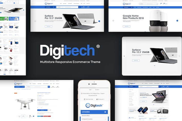 Thumbnail for Digitech - Responsive Prestashop Theme