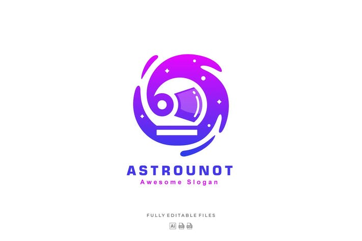 Thumbnail for Abstract Astronaut  Color Gradient Logo Template