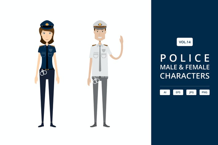 Thumbnail for Police - Male & Female Characters Vol.14