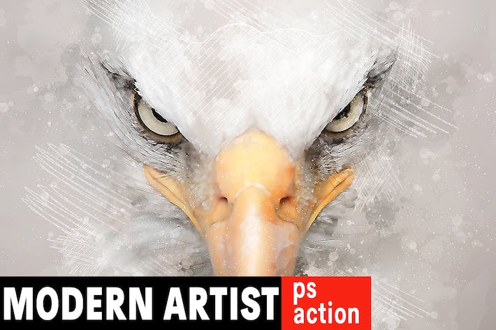 Thumbnail for Modern Artist Photoshop Action