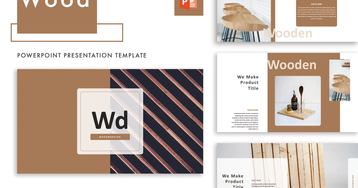 Download Wood Powerpoint Template by letterhend