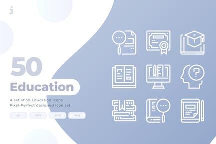 50 Education Icons
