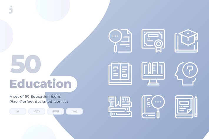 Thumbnail for 50 Education Icons