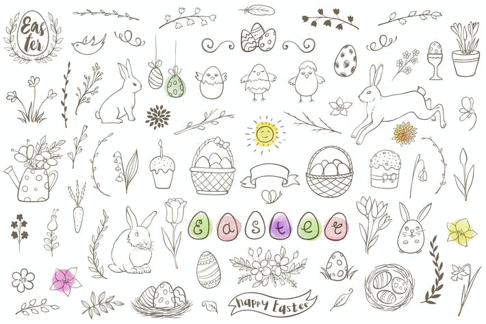 Thumbnail for Easter Doodle Collection