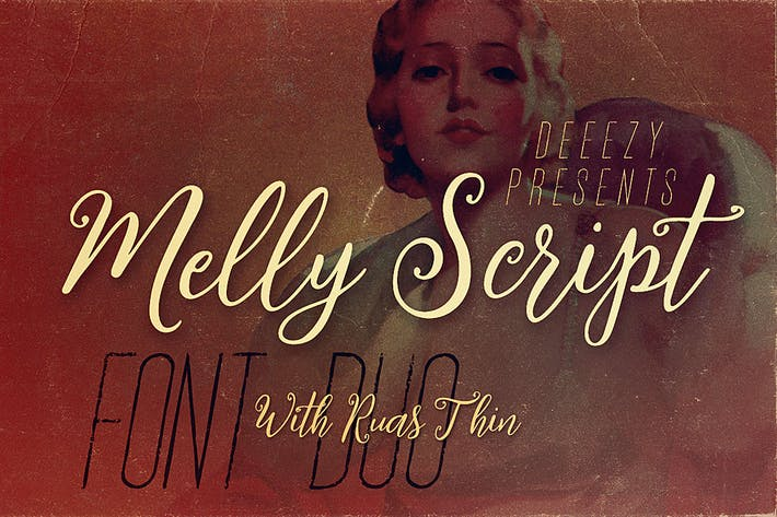 Thumbnail for Melly Script Font Duo