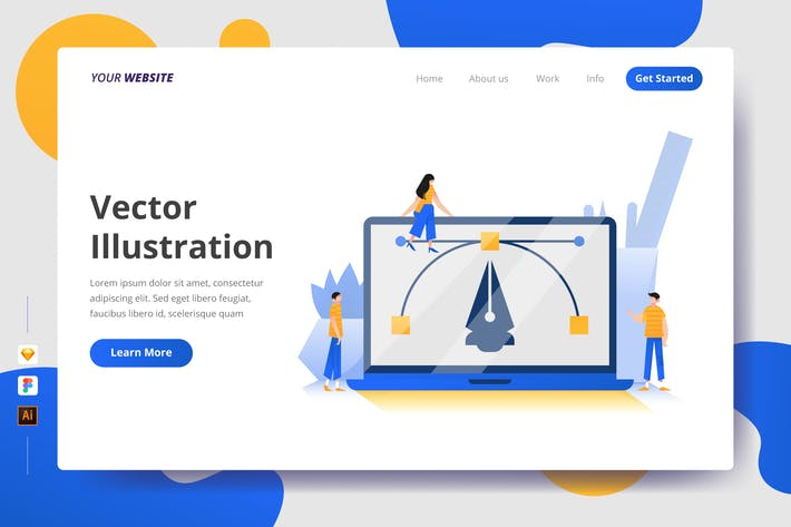 Thumbnail for Vector Illustration - Landing Page