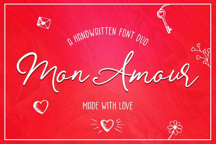 Thumbnail for Mon Amour Font Duo
