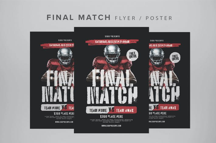 Thumbnail for Final Match Flyer