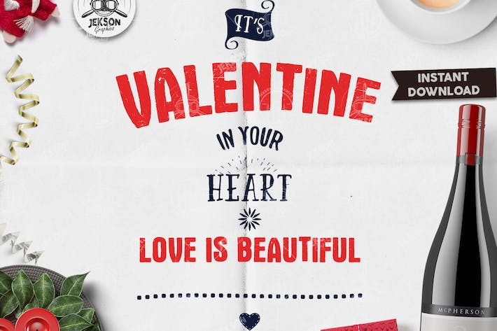 Thumbnail for Valentines Day Lettering / Typography Overlay SVG