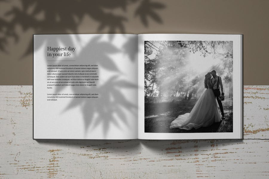 Offene Katalog- und Magazinseite Mockup