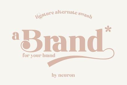 Tipo de letra de presentación de marca