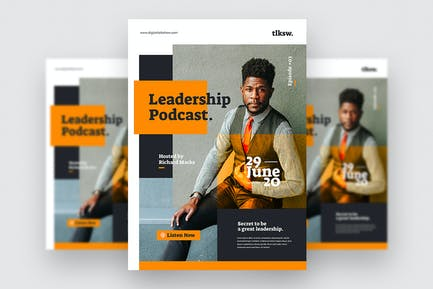 Podcast Leadership - Flyer Template