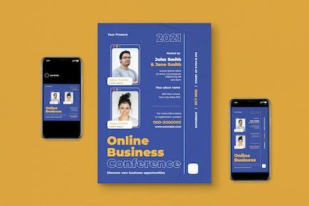 Online Bussines Flyer Set