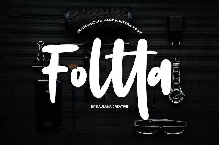 Thumbnail for Foltta Typeface