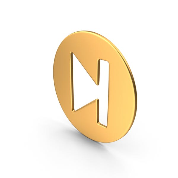 Movie Player Symbol Gold