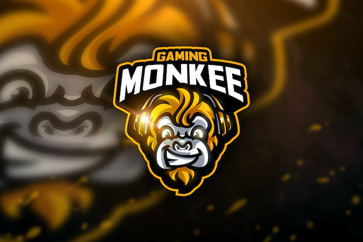 Thumbnail for Monkee Gaming - Mascot & Sport Logo