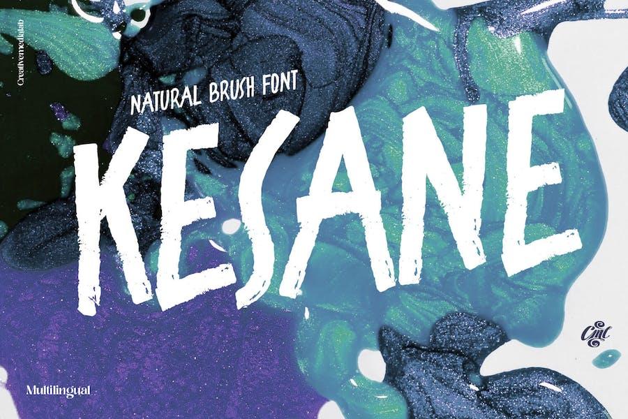 Kesane - Natural Brush Font
