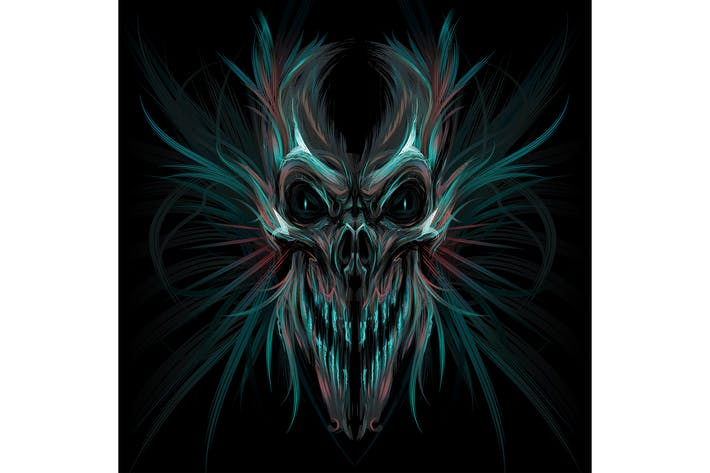 Dark Screaming Skull