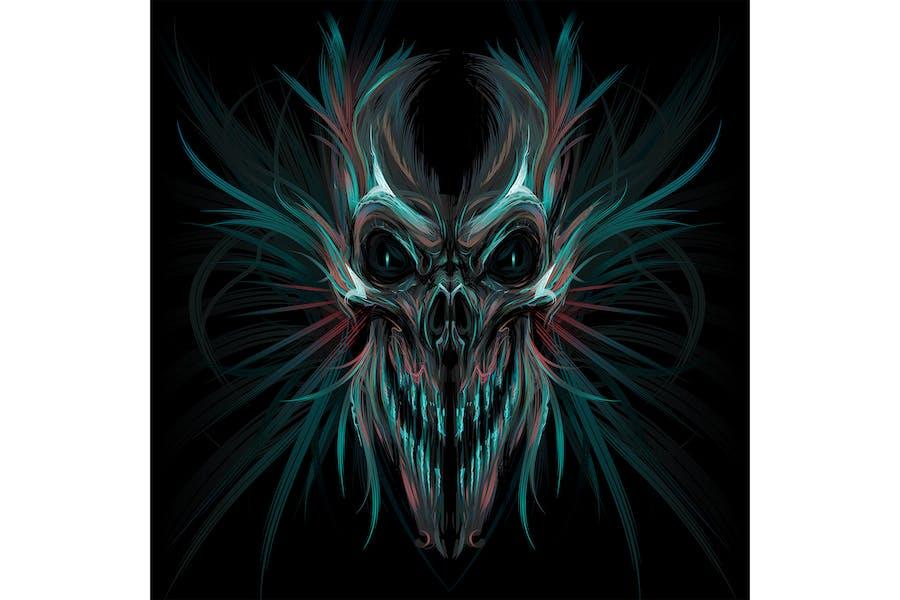 Темный кричащий череп