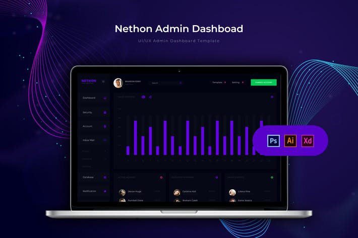 Thumbnail for Nethon Dashboard | Admin Template