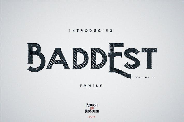 Thumbnail for Baddest typeface