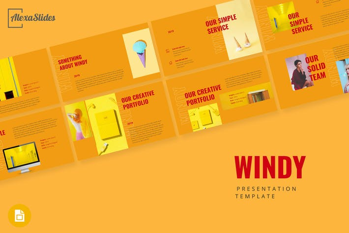 Thumbnail for Windy - Portfolio Google Slides Presentation