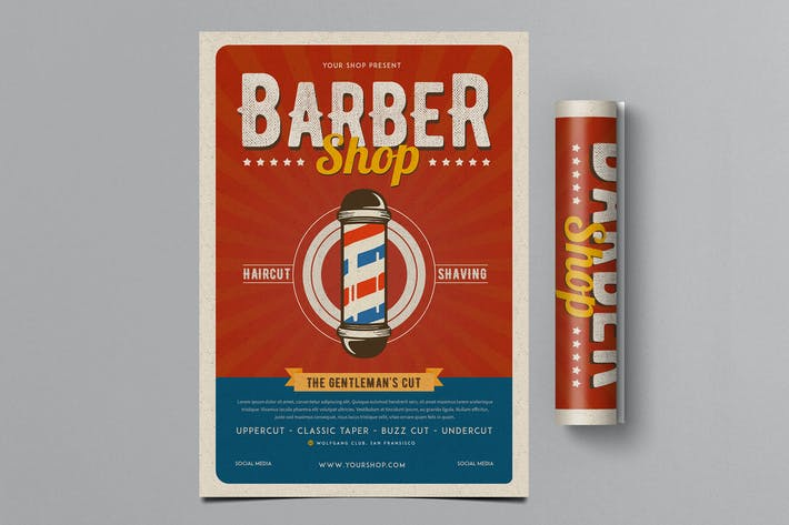 Thumbnail for Retro Barbershop Flyer