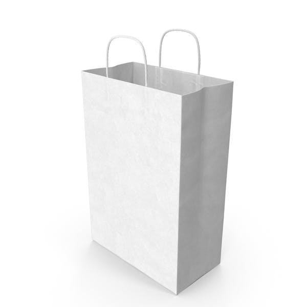 Белая бумажная сумка