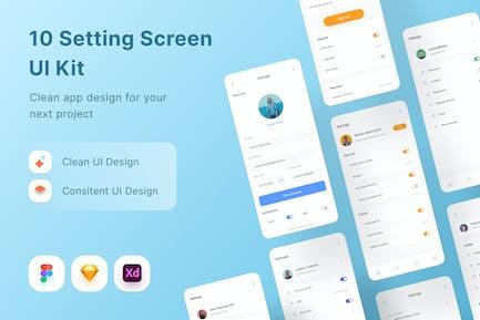 10 Settings Screen UI Kit
