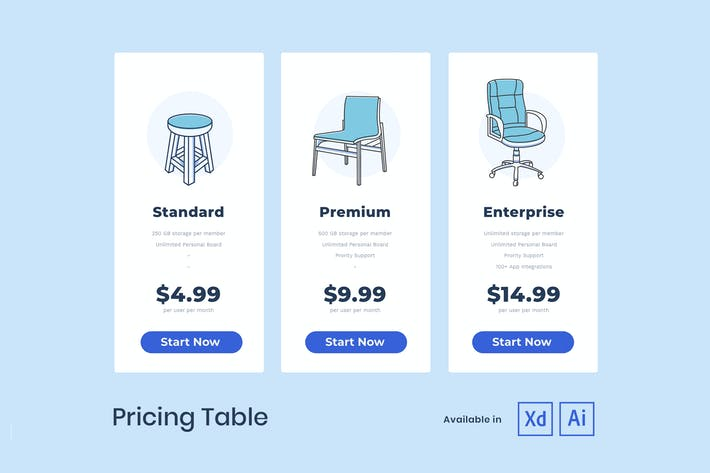 Thumbnail for Pricing Table