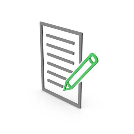 Papel de documento de símbolo con bolígrafo