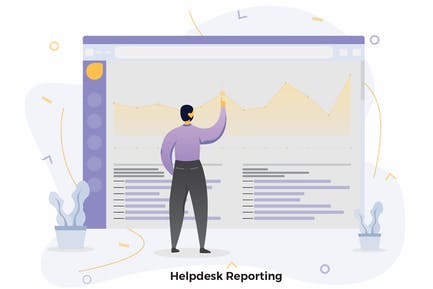 Helpdesk Reporting Illustrations CRM
