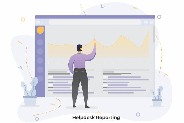 Thumbnail for Helpdesk Reporting Illustrations CRM