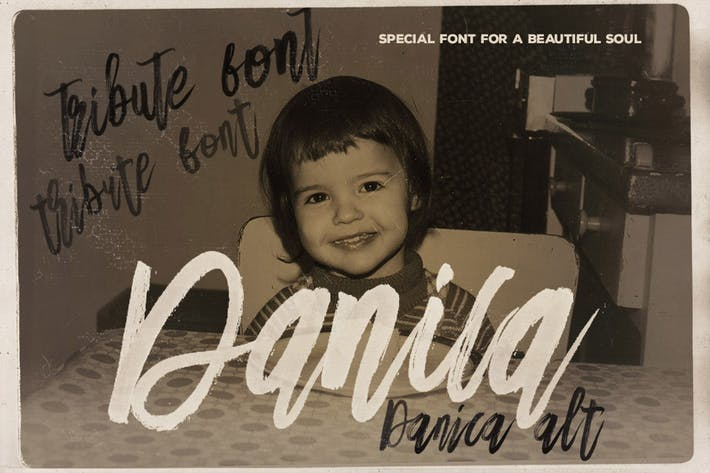 Cover Image For Danica Tribute Brush & SVG Font