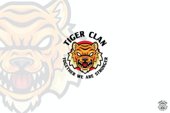 Thumbnail for Tiger Cartoon Angry Logo Mascot