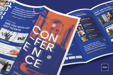 Conference Trifold PSD Template