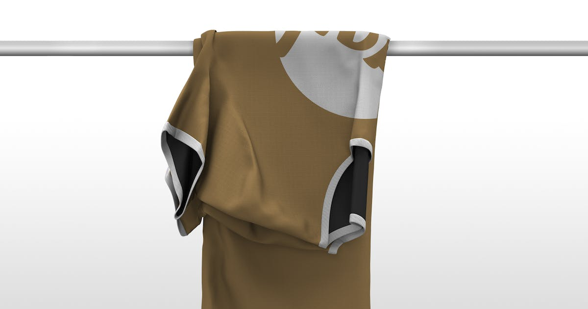 Download Folded T-Shirt on Tube Mockup by Stockware