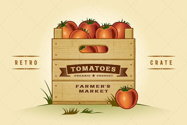 Thumbnail for Retro Crate Of Tomatoes