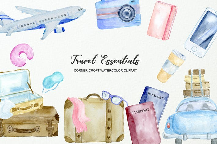 Cover Image For Aquarell Reisen Essentials