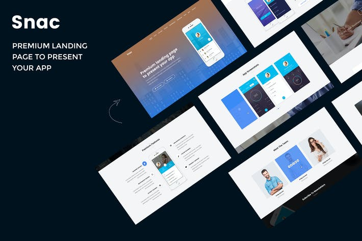 Thumbnail for Snac - Premium Responsive App Landing Page
