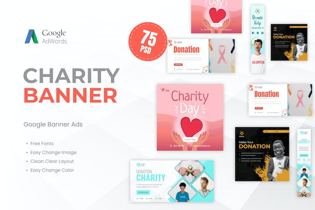 Charity Banner Ads Template