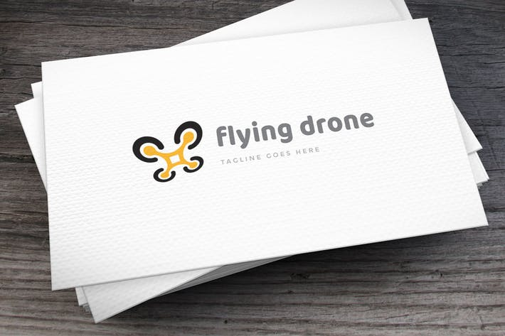 Thumbnail for Flying Drone Logo Template