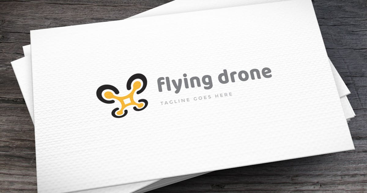 Download Flying Drone Logo Template by empativo