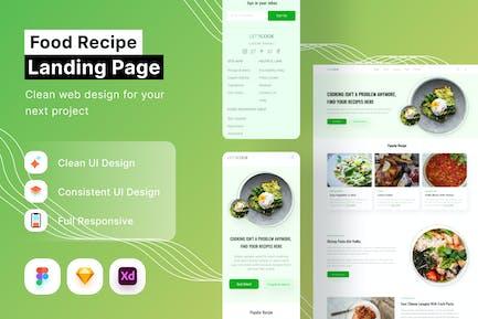 Food Recipe Landing Page