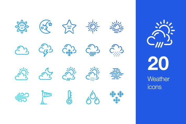 Thumbnail for 20 Weather icons