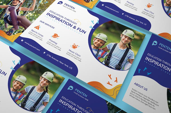 Thumbnail for Kids A5 Flyer PSD Template