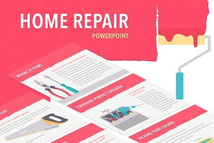 Flat Tools PowerPoint Template