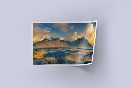 Glossy Printed Photo Mockup