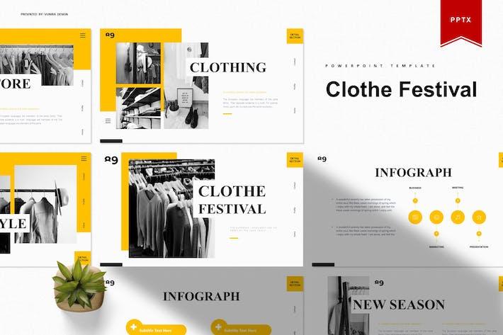 Праздник одежды | Шаблон Powerpoint
