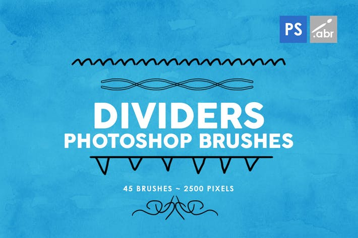 Cover Image For 45 Dividers Photoshop Brushes Vol. 2